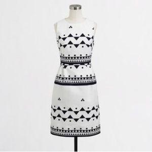 J.Crew Geometric Printed Textured Sheath Dress 4